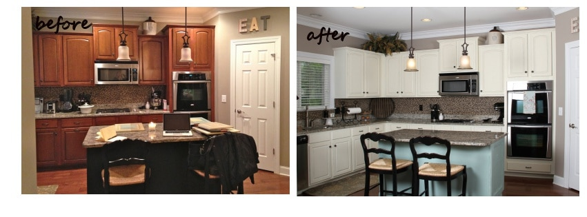 Kitchen cabinet refinishing st louis america west for Repainting white kitchen cabinets